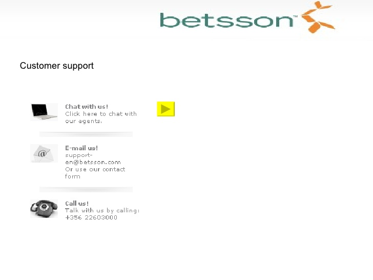 betsson customer support